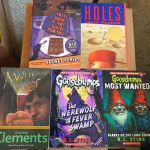 Lot of 5 adventure mystery paperback books